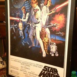 """Original 1977 Star Wars Movie Picture One Sheet """"c"""